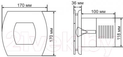 Вентилятор вытяжной Grand Soft 120 Standart (белый)