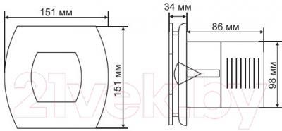 Вентилятор вытяжной Grand Soft 100 Timer (белый)