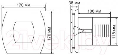 Вентилятор вытяжной Grand Soft 120 Timer (белый)