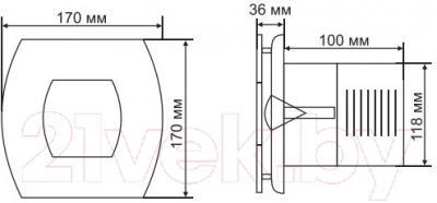 Вентилятор вытяжной Grand Soft 120 Timer (нержавеющая сталь)