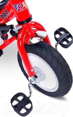 Детский велосипед с ручкой Toyz Derby (синий)