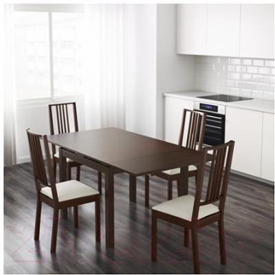 Обеденный стол Ikea Бьюрста 101.823.11 (коричневый)
