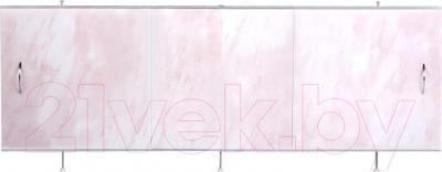 Экран для ванны Oda Универсал 1.70 (светло-розовый мрамор)