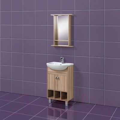 Зеркало для ванной Акваль Глория 50 (EG.04.50.00.N) - в интерьере