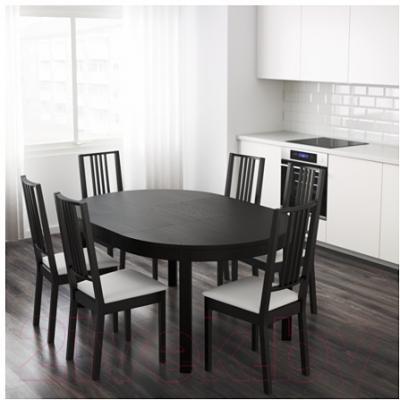 Обеденный стол Ikea Бьюрста 201.167.78 (коричнево-черный)