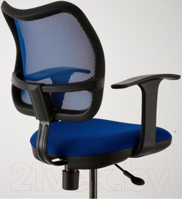 Кресло офисное Ikea Одфин 201.453.18 (синий) - вид сзади