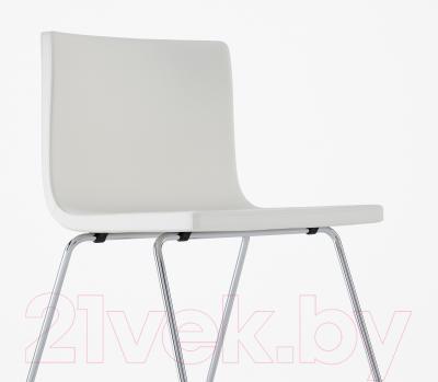 Стул Ikea Бернгард 201.530.68 (белый/хром)
