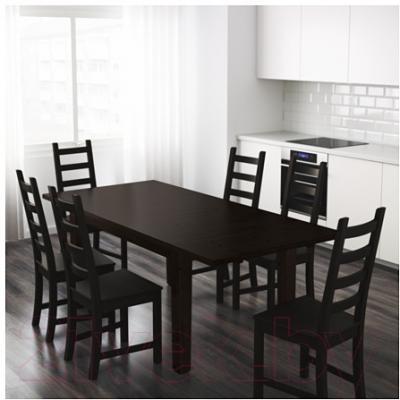 Обеденный стол Ikea Стурнэс 201.768.47 (коричнево-черный) - Инструкция по сборке