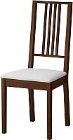 Стул Ikea Берье 201.822.78 (коричневый/белый) -