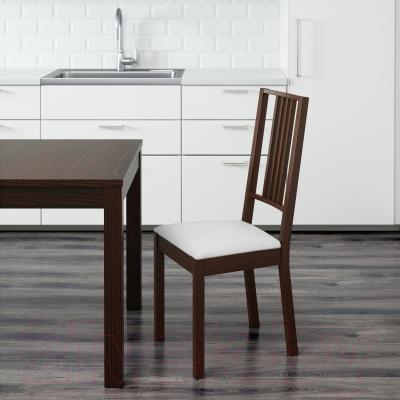 Стул Ikea Берье 201.822.78 (коричневый/белый)