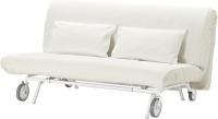Чехол на диван - 2 местный Ikea ПС 201.847.86 (белый) -