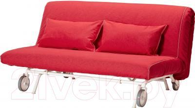 Чехол на диван - 2 местный Ikea ПС 201.848.14 (красный)