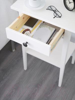 Прикроватная тумба Ikea Хемнэс 202.004.56 (белая морилка)