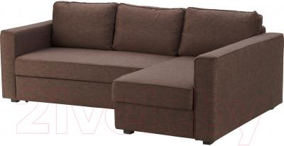 Угловой диван-кровать Ikea Монстад 202.199.03 (коричневый)