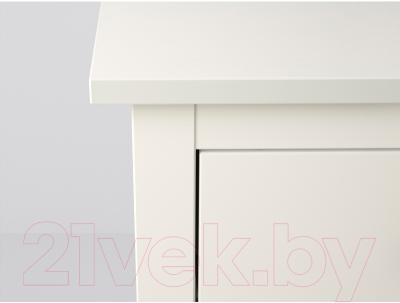 Прикроватная тумба Ikea Хемнэс 202.426.25 (белый)