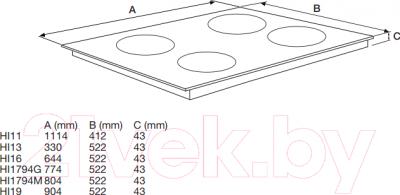 Индукционная варочная панель Asko HI1995G