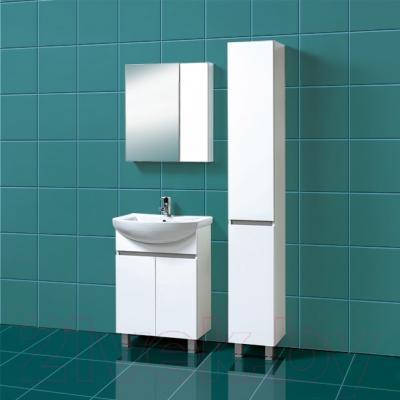 Шкаф с зеркалом для ванной Акваль Афина 60 R (04.61.00.N) - в интерьере