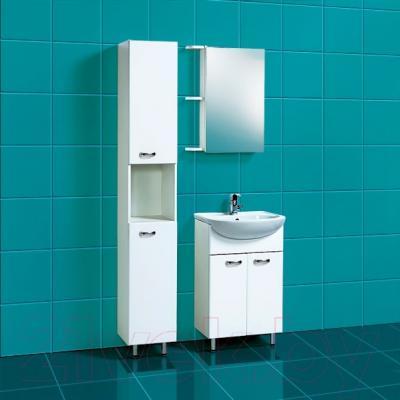 Шкаф с зеркалом для ванной Акваль София 50 L (ES.04.50.00.N) - в интерьере