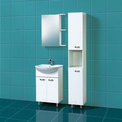 Шкаф с зеркалом для ванной Акваль София 50 R (ES.04.50.00.N) - в интерьере