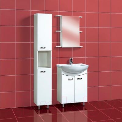 Шкаф с зеркалом для ванной Акваль София 60 L (ES.04.60.00.N) - в интерьере