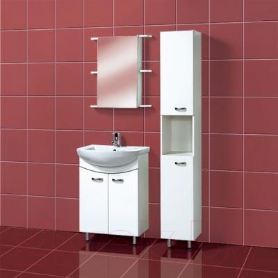 Шкаф с зеркалом для ванной Акваль София 60 R (ES.04.60.00.N) - в интерьере