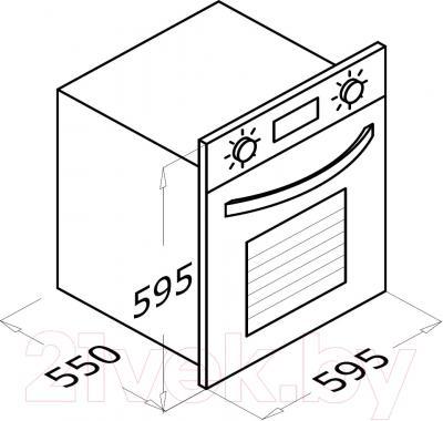 Электрический духовой шкаф Backer BM68T3-А1 (черный)