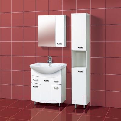 Шкаф с зеркалом для ванной Акваль София 70 R (ES.04.70.00.N) - в интерьере