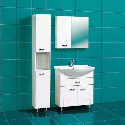 Шкаф с зеркалом для ванной Акваль София 75 L (ES.04.75.00.N) - в интерьере