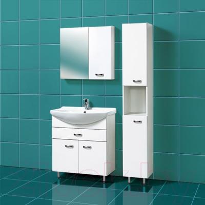 Шкаф с зеркалом для ванной Акваль София 75 R (ES.04.75.00.N) - в интерьере