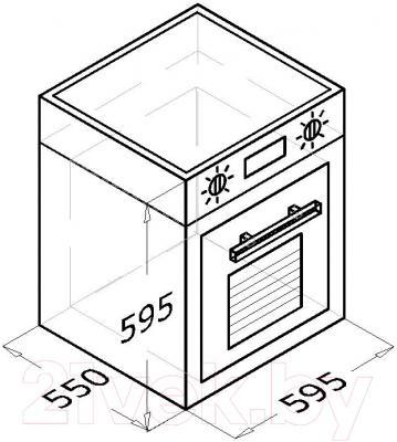 Электрический духовой шкаф Backer BM68T1-А1 (белый)