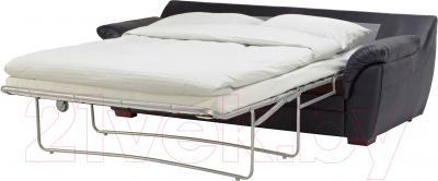 Диван-кровать Ikea Бьербу 101.908.20 (черный) - в разложенном виде