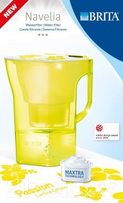 Фильтр питьевой воды Brita Navelia Мемо (желтый)