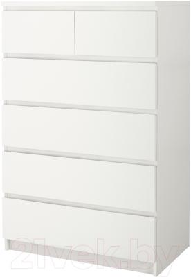 Комод Ikea Мальм 102.145.57 (белый)