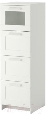 Комод Ikea Бримнэс 102.180.27 (белый, матовое стекло)