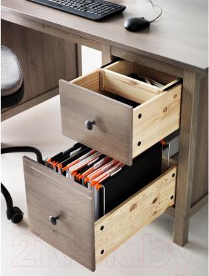 Письменный стол Ikea Хемнэс 202.457.23 (серо-коричневый)