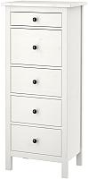 Комод Ikea Хемнэс 202.471.90 (белая морилка) -