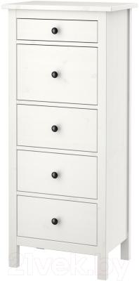 Комод Ikea Хемнэс 202.471.90 (белая морилка)
