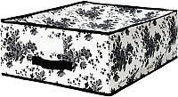 Ящик для хранения Ikea Гарнитур 202.501.30 (черный/белый цветок) -