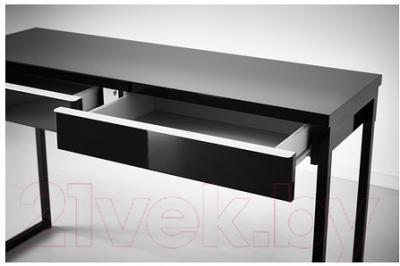 Письменный стол Ikea Бесто Бурс 202.504.32 (черный глянцевый)