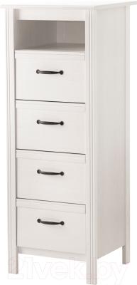 Комод Ikea Брусали 202.527.42 (белый)