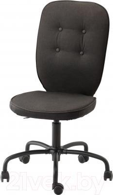 Кресло офисное Ikea Лиллхойден 102.214.02 (черный)
