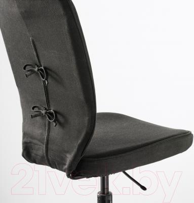 Кресло офисное Ikea Лиллхойден 102.214.02 (черный) - вид сзади
