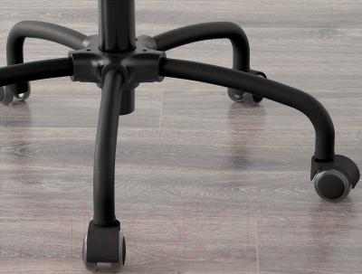 Кресло офисное Ikea Лиллхойден 102.214.02 (черный) - колесики автоматически блокируются, когда стул не используется