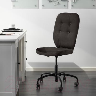 Кресло офисное Ikea Лиллхойден 102.214.02 (черный) - в интерьере