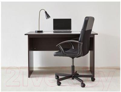 Письменный стол Ikea Тодален 202.635.09 (черно-коричневый)