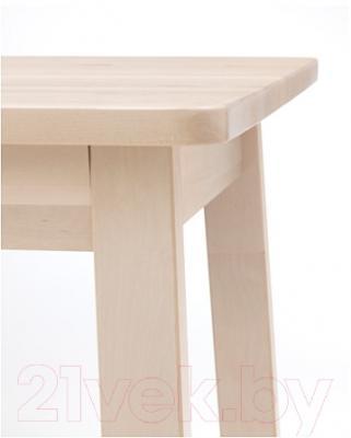 Обеденный стол Ikea Норрокер 202.753.38 (белый/береза)