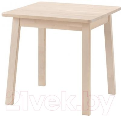 Обеденный стол Ikea Норрокер 202.753.38 (белый/береза) - Инструкция по сборке
