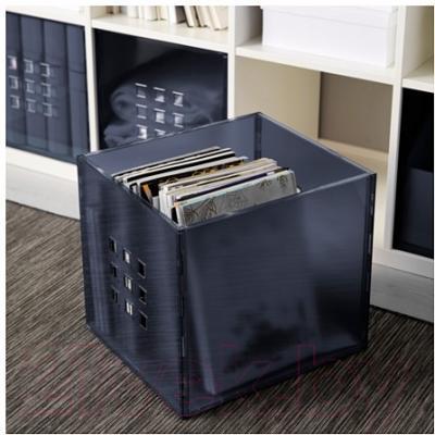 Ящик для хранения Ikea Лекман 102.225.81 (темно-серый)