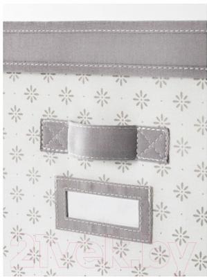 Ящик для хранения Ikea Свира 202.902.92 (серый/белый)