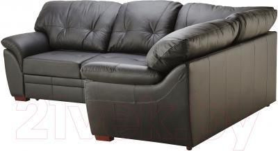 Угловой диван-кровать Ikea Бьербу 102.226.99 (черный)